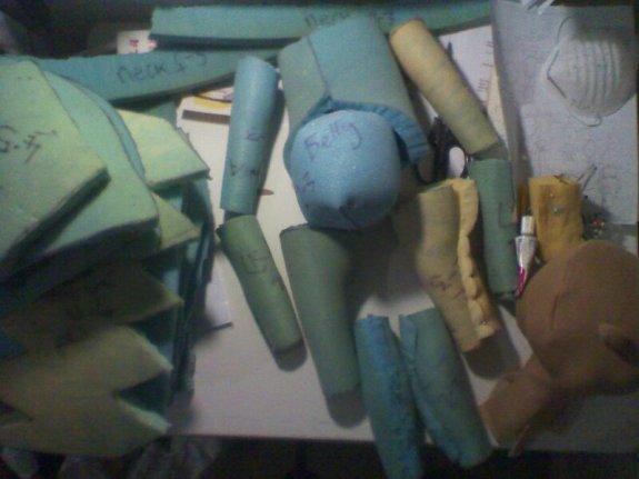 Assembling.... Tic teac puppets in progress