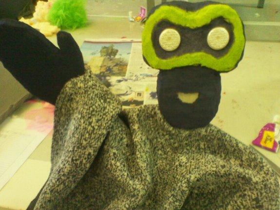 Children and teacher's puppets