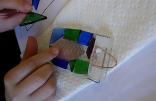 Fun with Glass Cois na Coille project