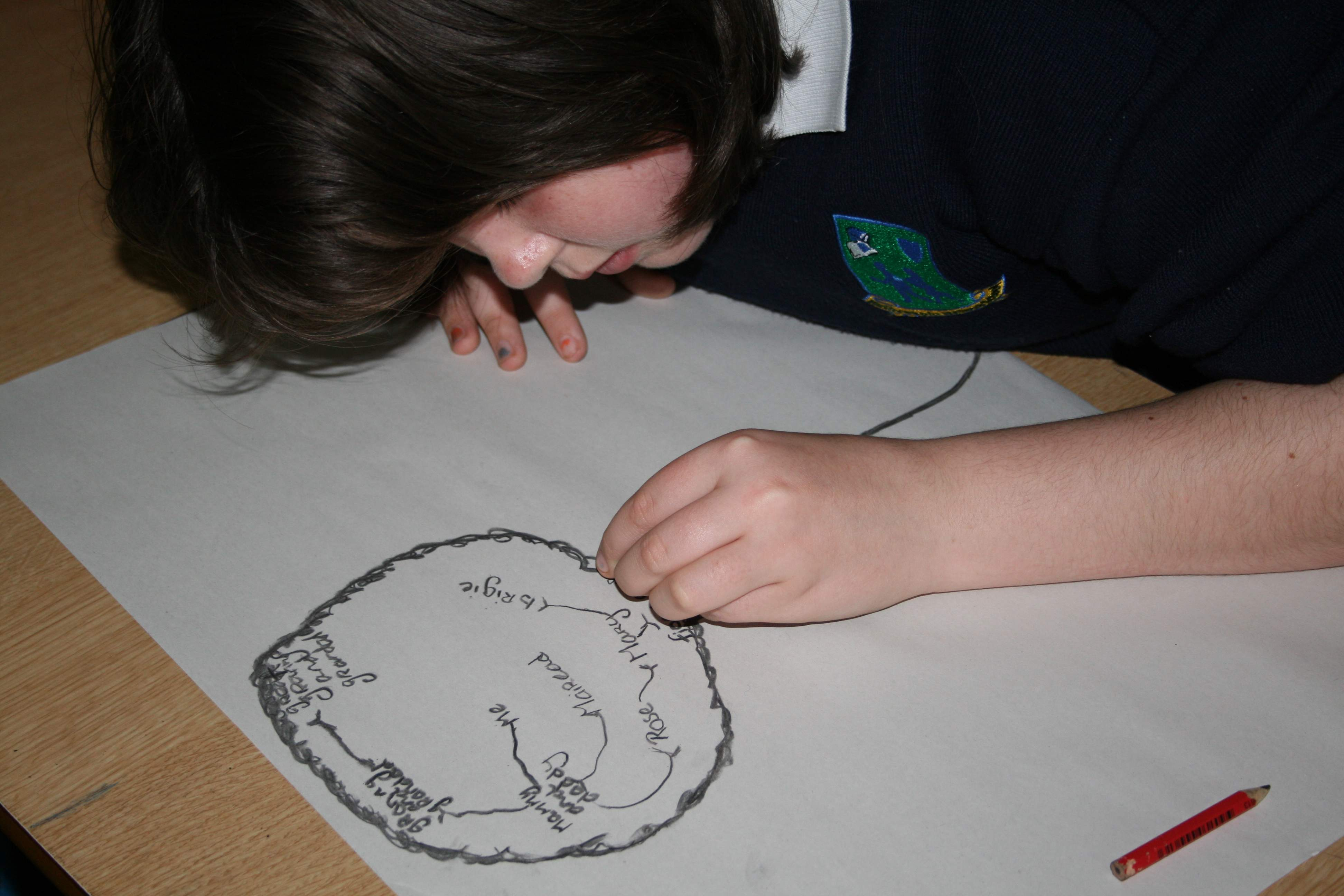 First Day drawings at Rathcabbin school..